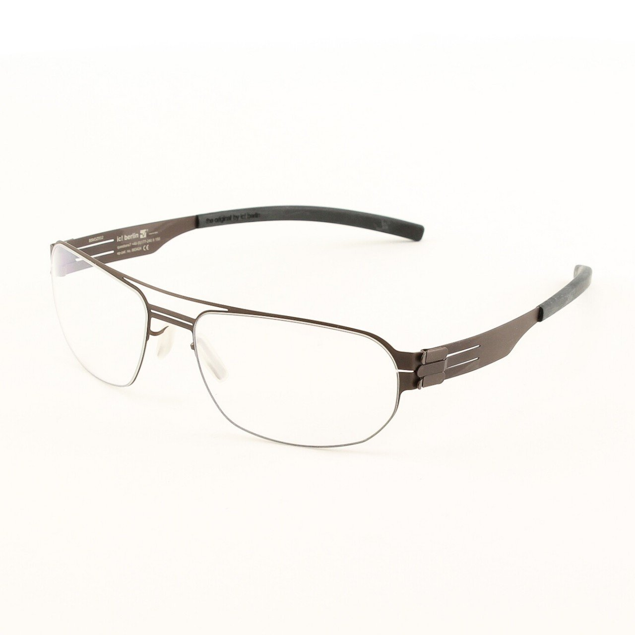 ic! Berlin Oleg P. Eyeglasses Col. Chocolate with Clear Lenses