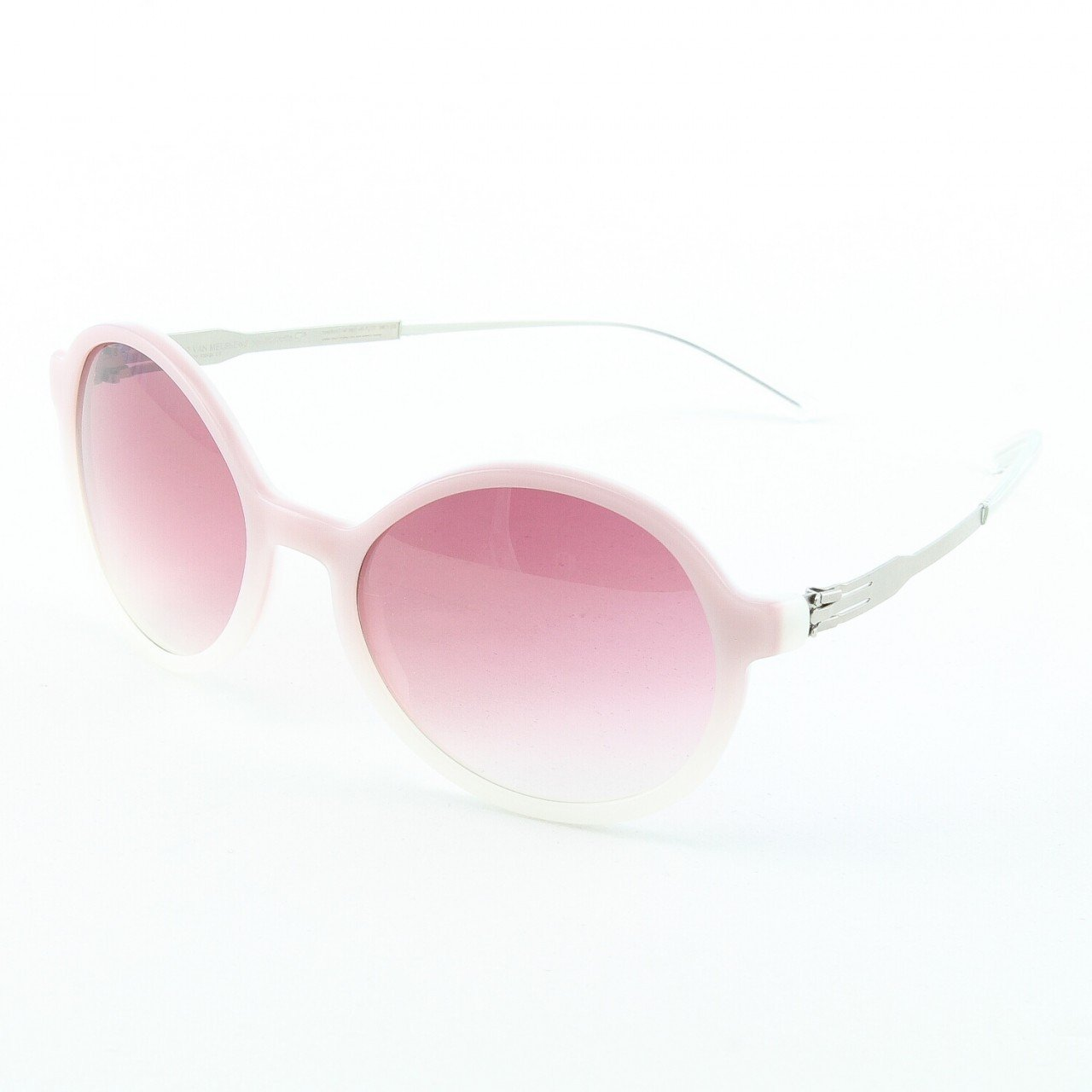 ic! Berlin Ever So Soft Sunglasses Col. Crystal Rose with Rose Gradient Lenses