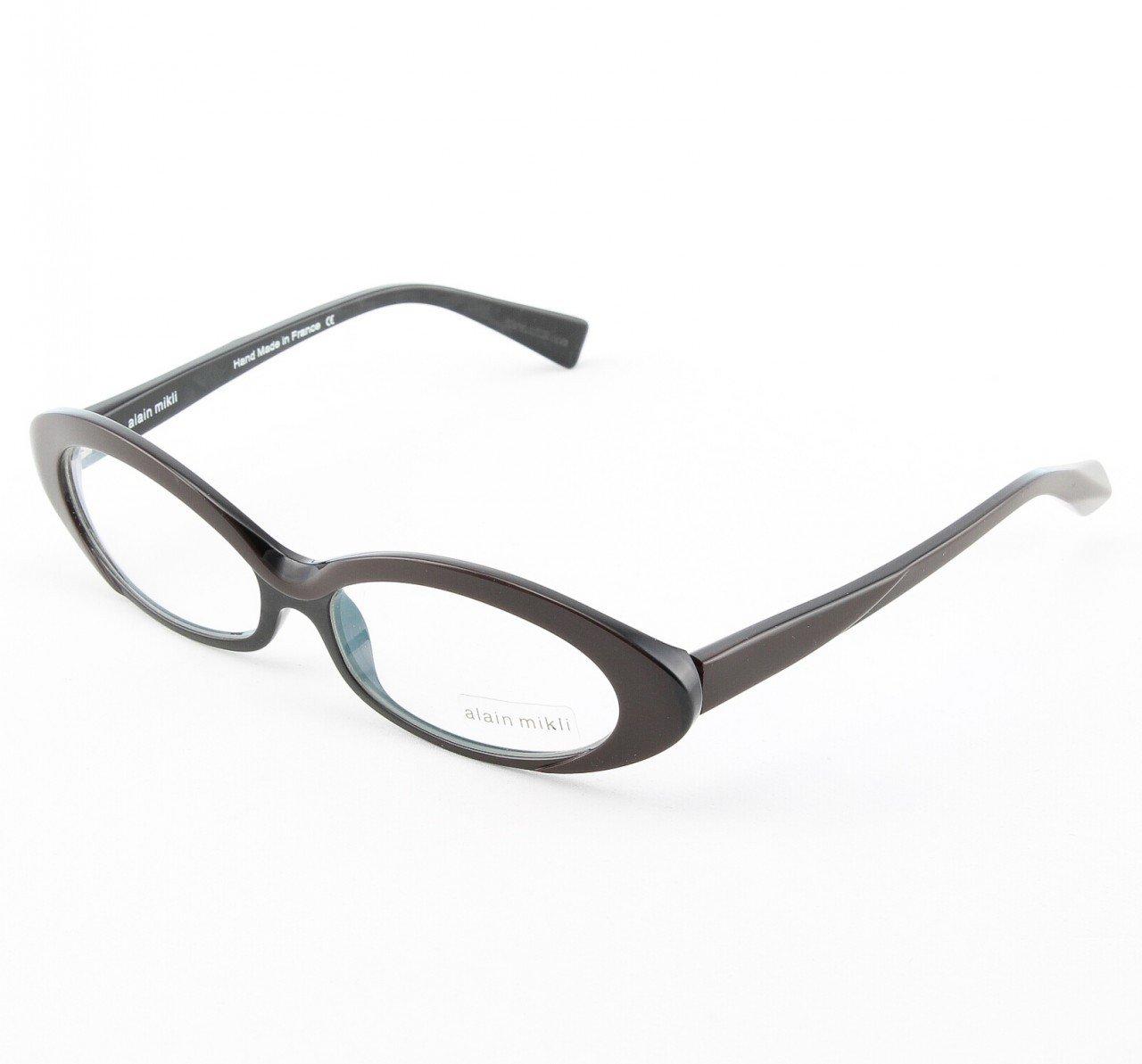 Alain Mikli Eyeglasses AL1037 Col. 2 Chocolate Brown with Black Frame Accent