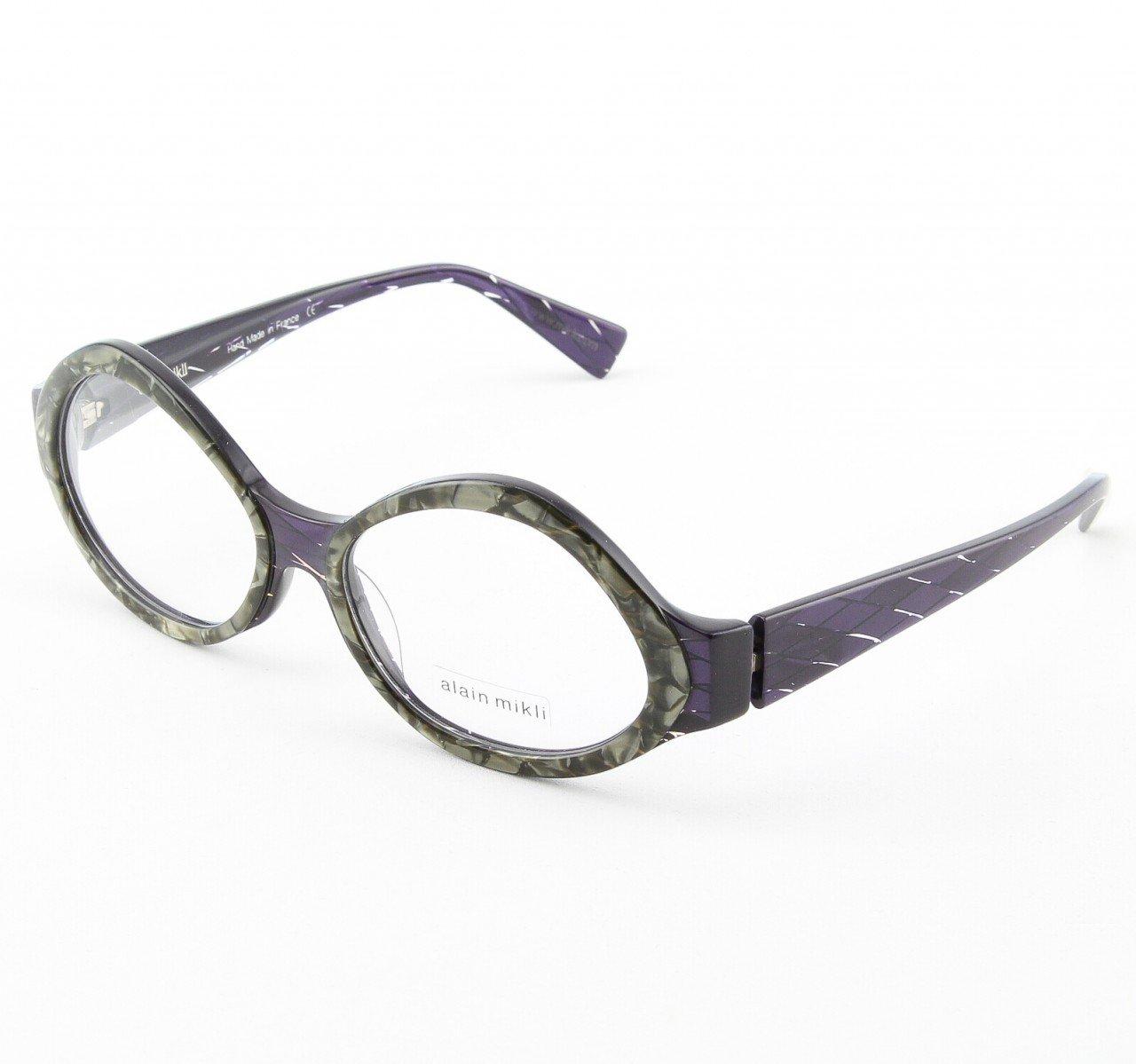 Alain Mikli Eyeglasses AL1014 Col. 5 Purple and Silver Marble