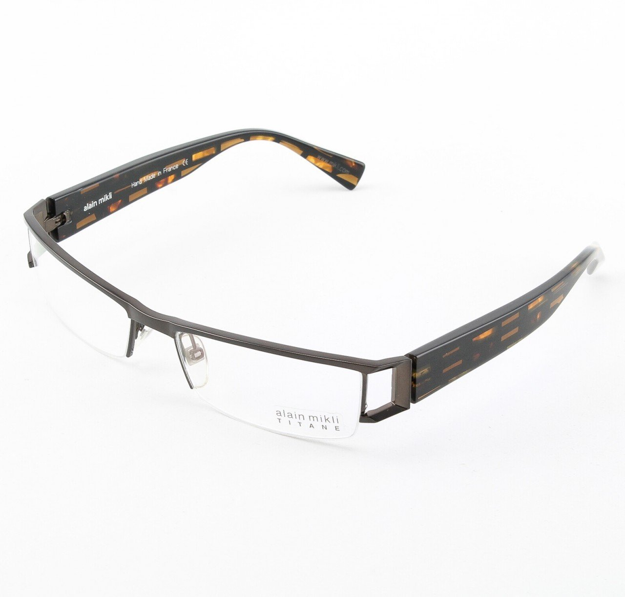 Alain Mikli Eyeglasses AL0867 Col. 86 Geometric Black and Tortoise
