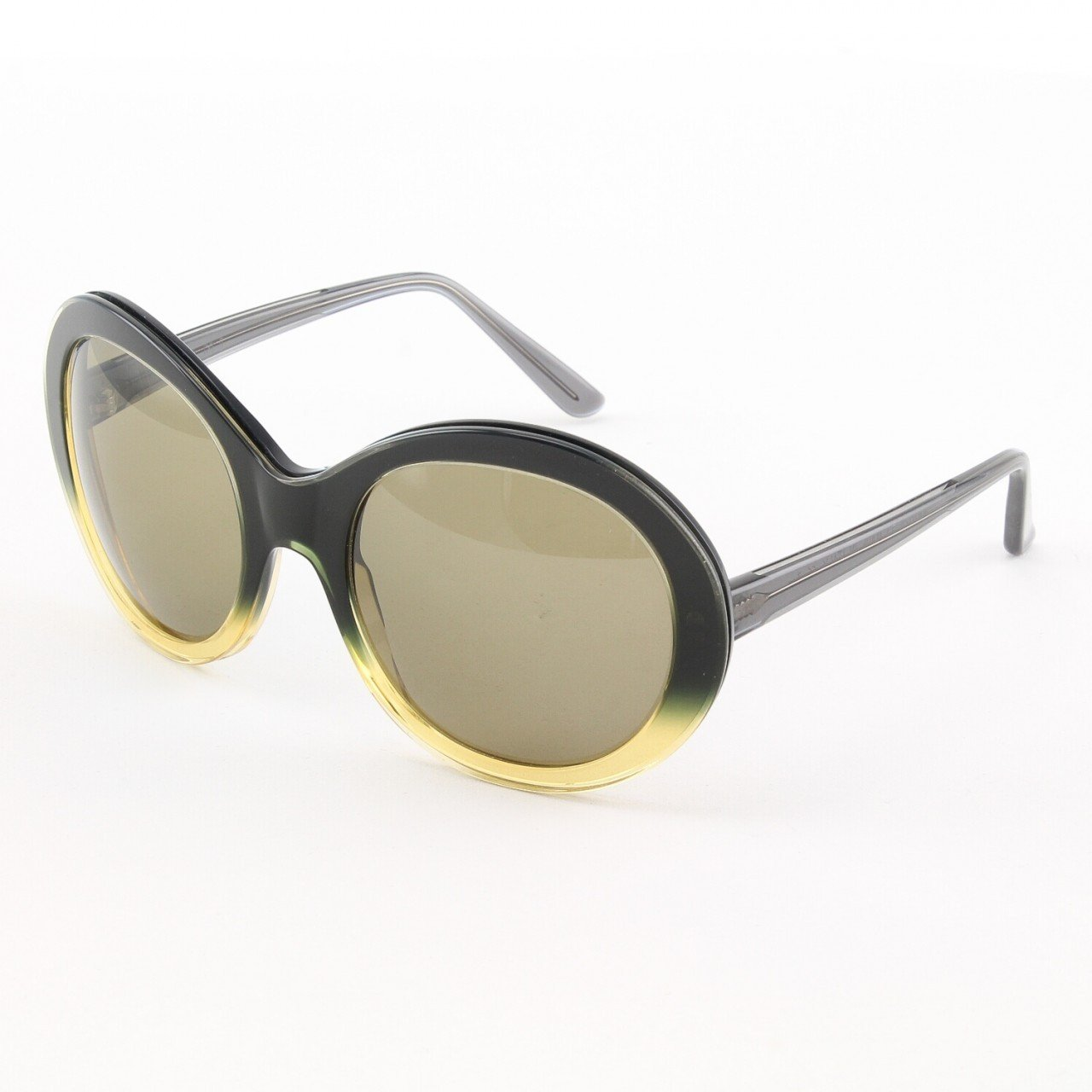 Marni MA162S Sunglasses Col. 13 Oversized Dark Navy, Yellow, Clear Frame with Amber Gradient Lenses