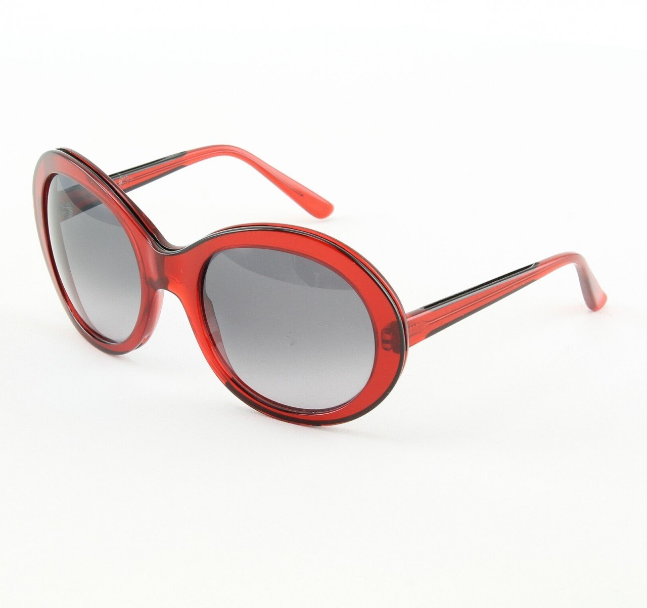 Marni MA162S Sunglasses 02 Oversized Translucent Ruby Red, Gray Gradient Lenses