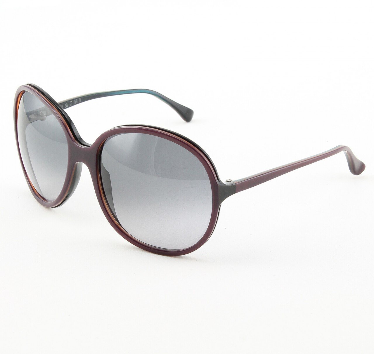 Marni MA165S Sunglasses Col. 03 Oversized Deep Violet Frame with Gray Gradient Lenses