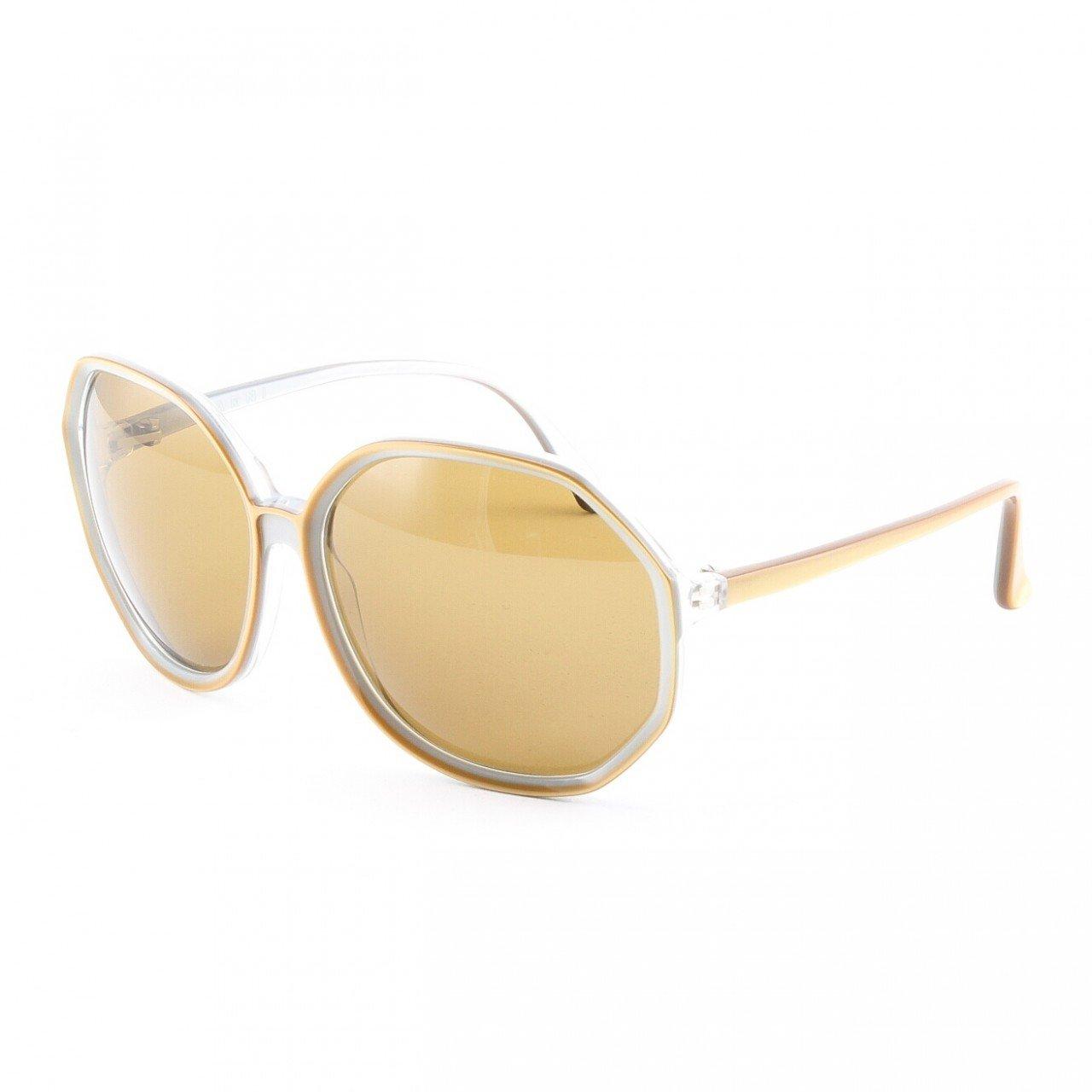 Marni MA181S Sunglasses 09 Burnished Gold Frame, Brown Gradient Lenses
