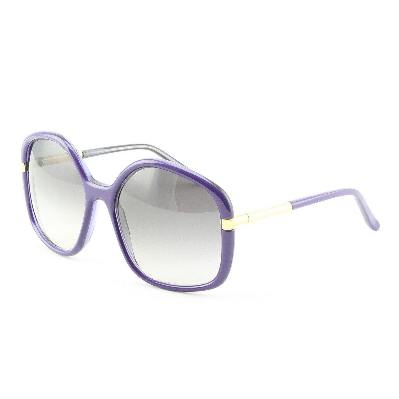 Marni MA211 Sunglasses Col. 04 Purple Frame Gold Trim with Gray Gradient Lenses