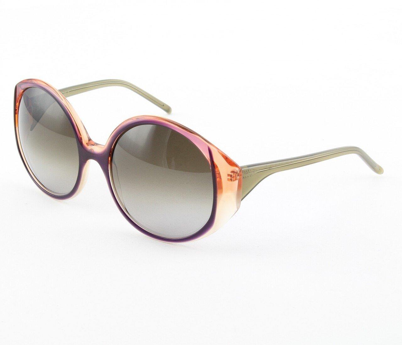 Marni MA217 Sunglasses 06 Purple Frame w/ Crystal Orange and Cream Accents
