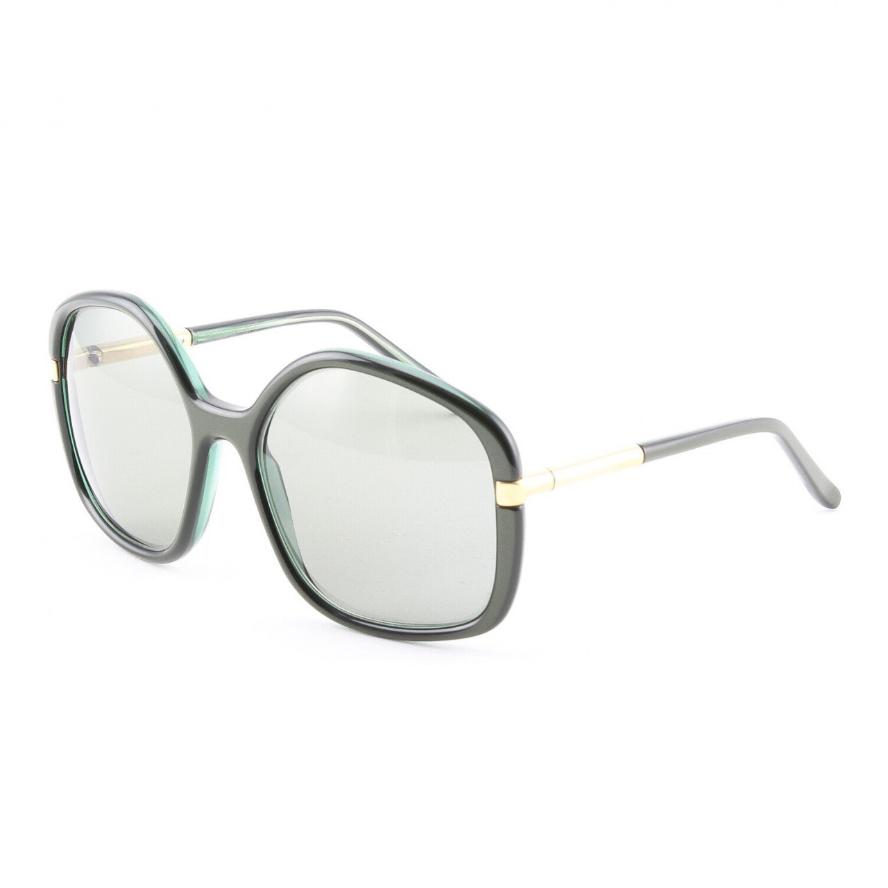 Marni MA211Sunglasses Col. 03 Dark Green Gold Accent with Green Gradient Lenses