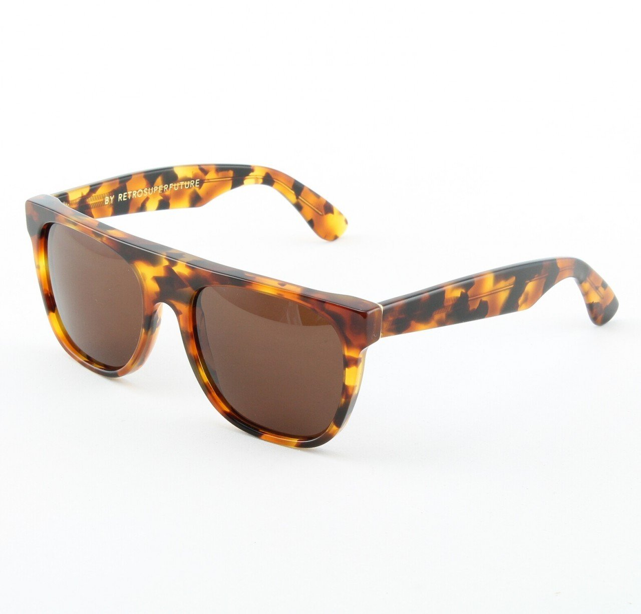 Super Flat Top 850/3T Sunglasses Dark Havana with Brown Zeiss Lenses by RETROSUPERFUTURE