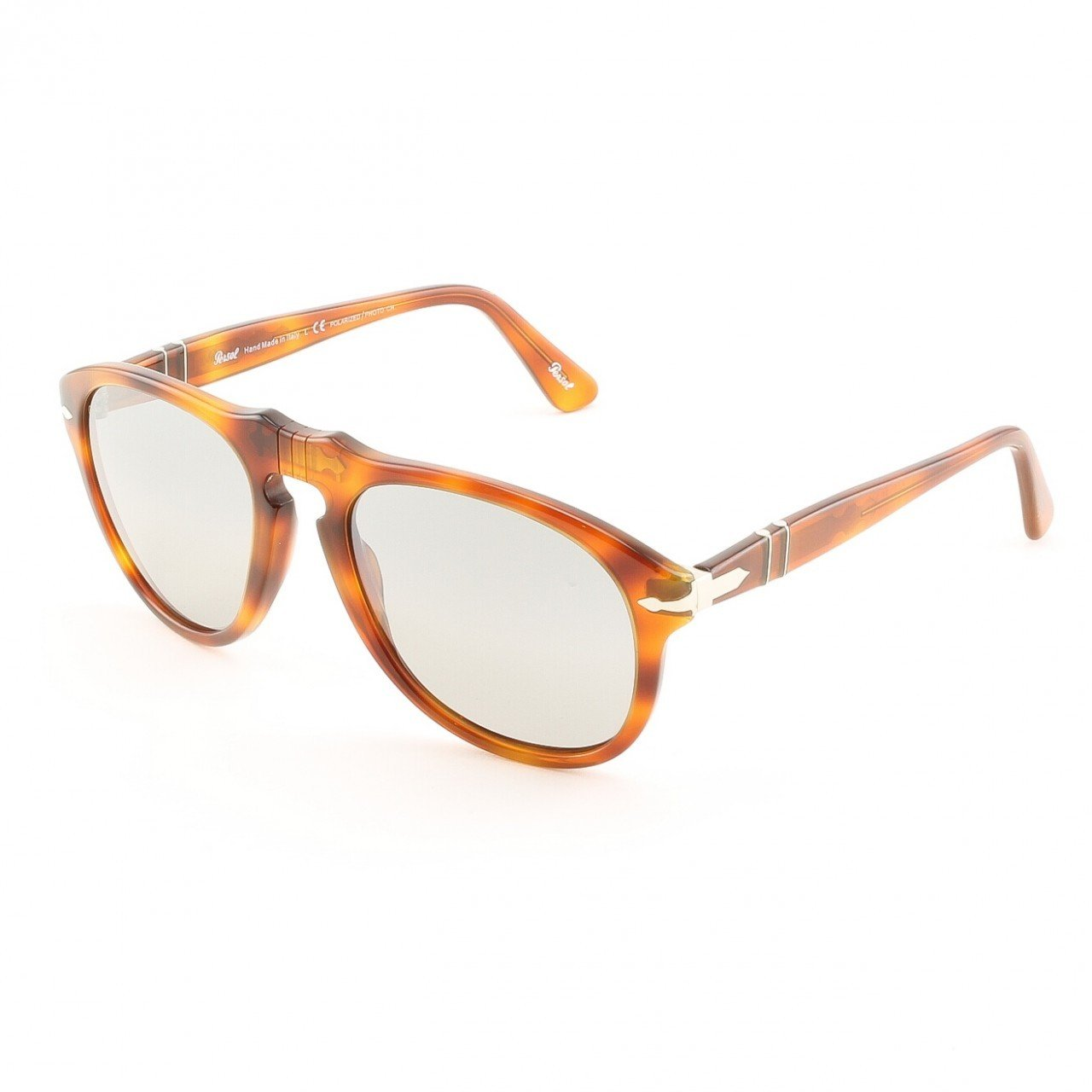 Persol PO0649 96/82 54mm Light Havana Sunglasses with Grey Photochromic Polarized Lenses