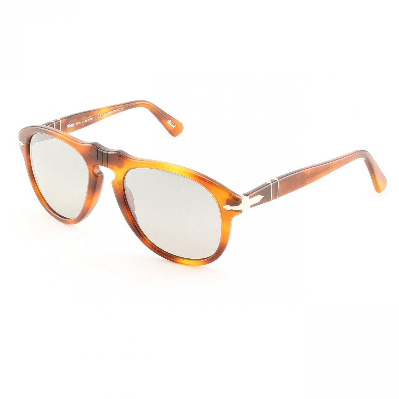 Persol PO0649 96/82 52mm Light Havana Sunglasses with Grey Photochromic Polarized Lenses