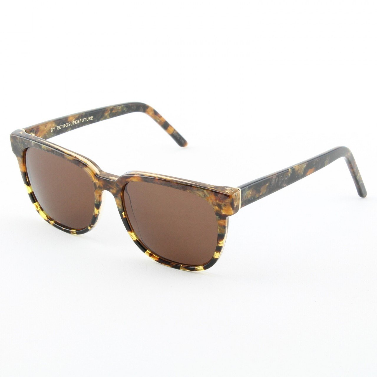 Super People 531/3A Sunglasses Brown Beige Stone with Brown Zeiss Lenses by RETROSUPERFUTURE