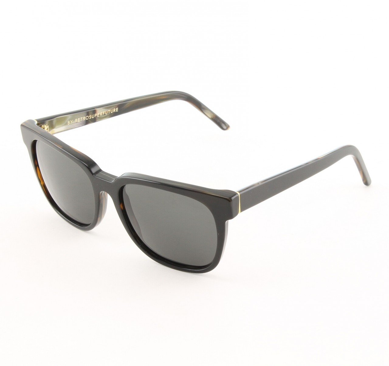 Super People 405 Sunglasses Black and Shell with Black Zeiss Lenses by RETROSUPERFUTURE