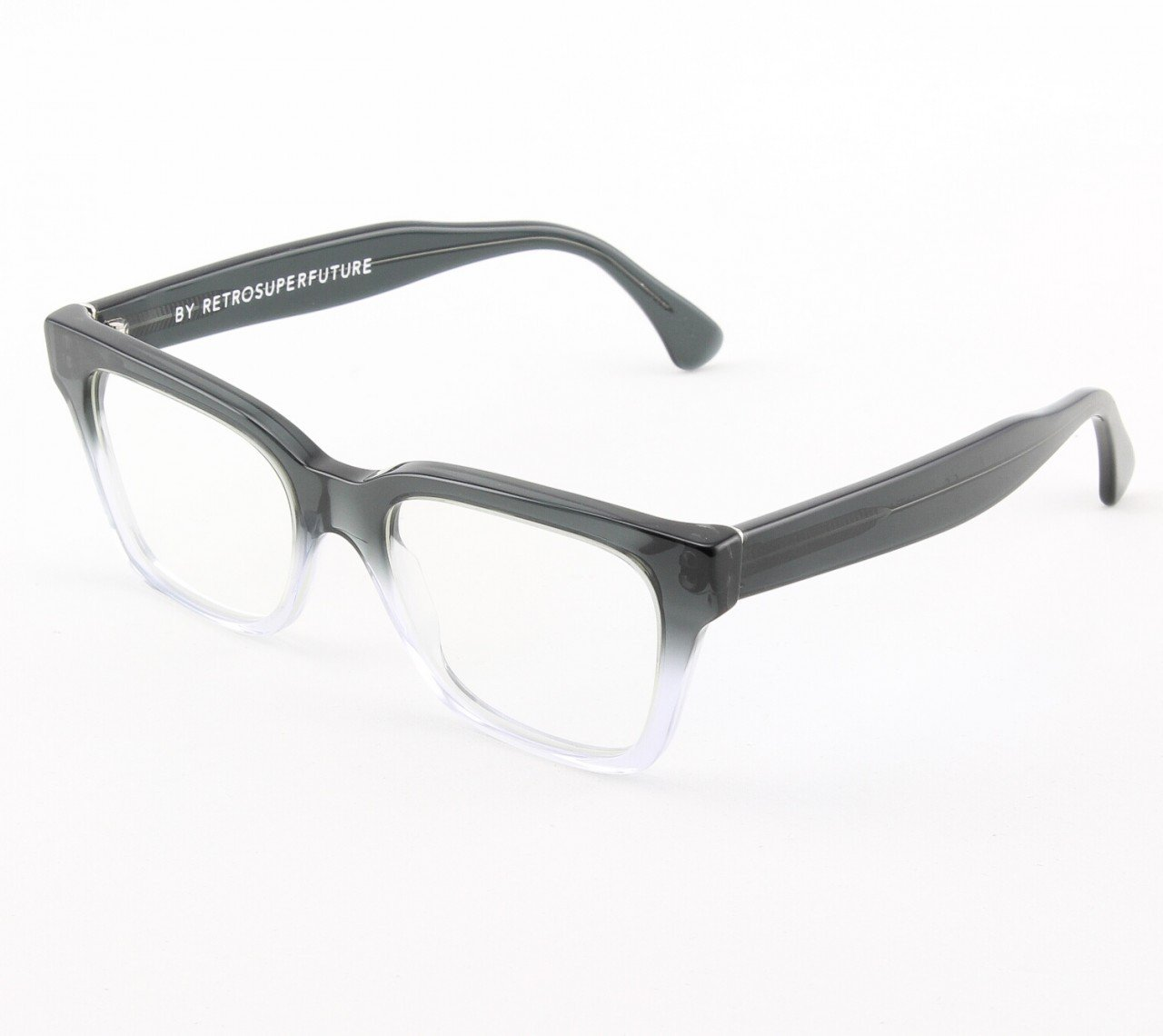 Super America 823 Eyeglasses Crystal & Smoke with Clear Zeiss Lenses by RETROSUPERFUTURE