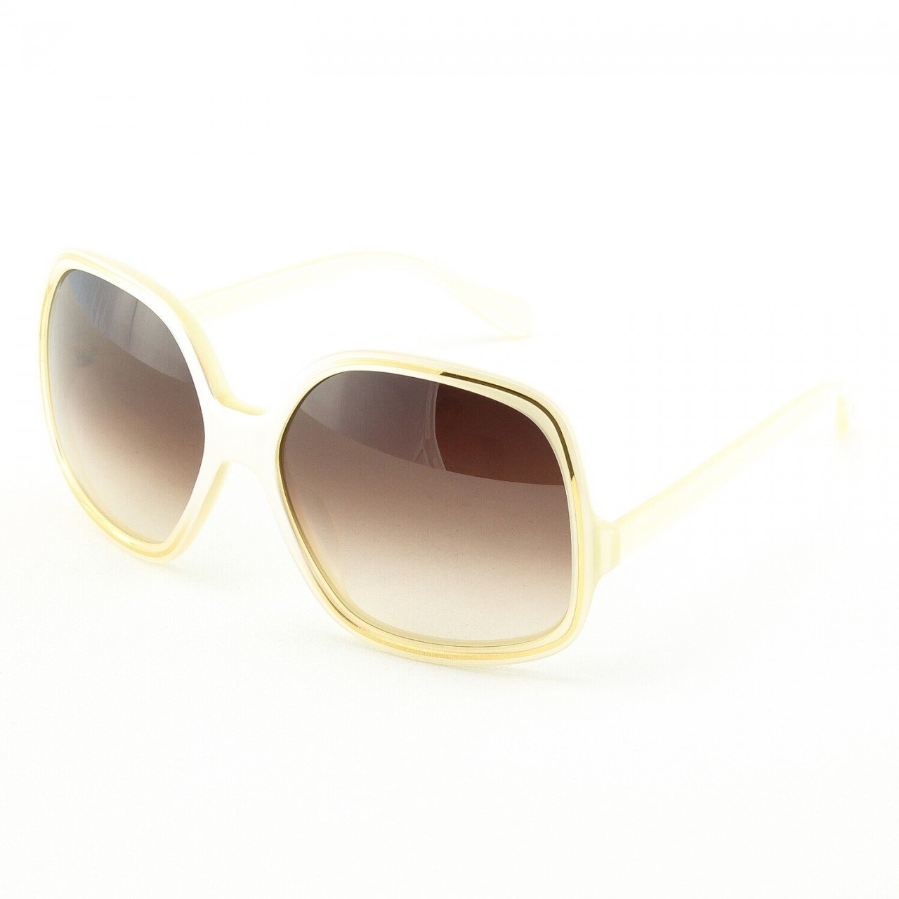 Oliver Peoples Talya Sunglasses Col. IS Ivory Gold with Brown Gradient Lenses