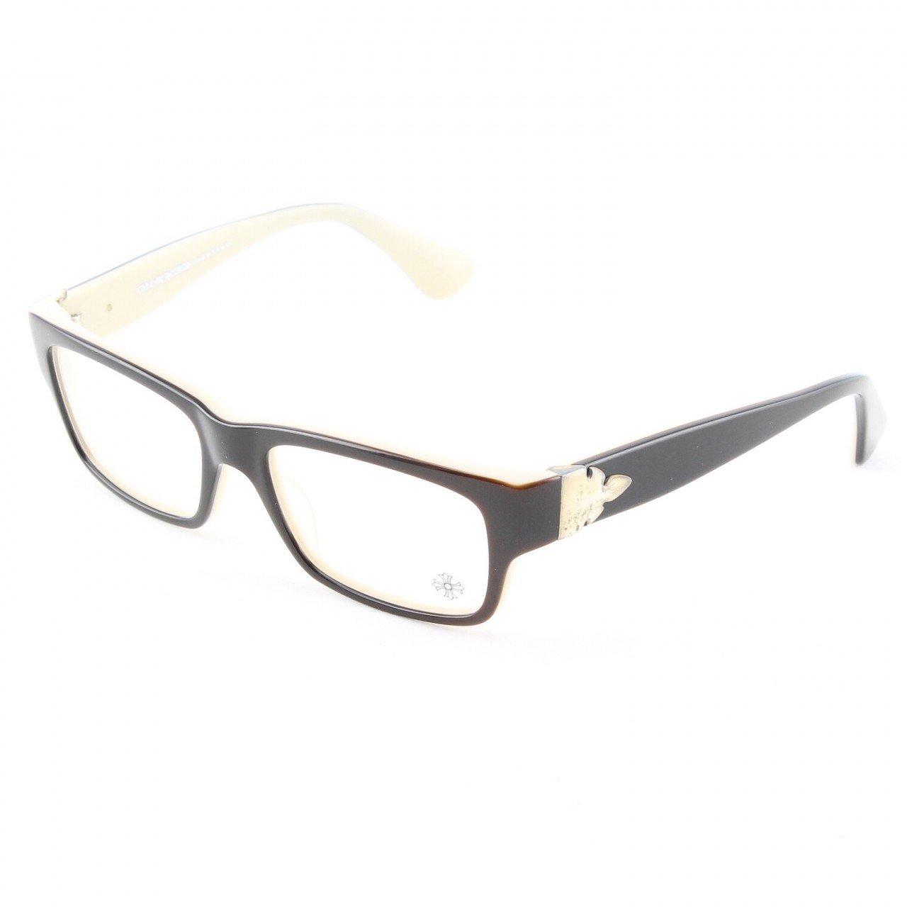 Chrome Hearts The Works Flerknee Eyeglasses Black and Tan