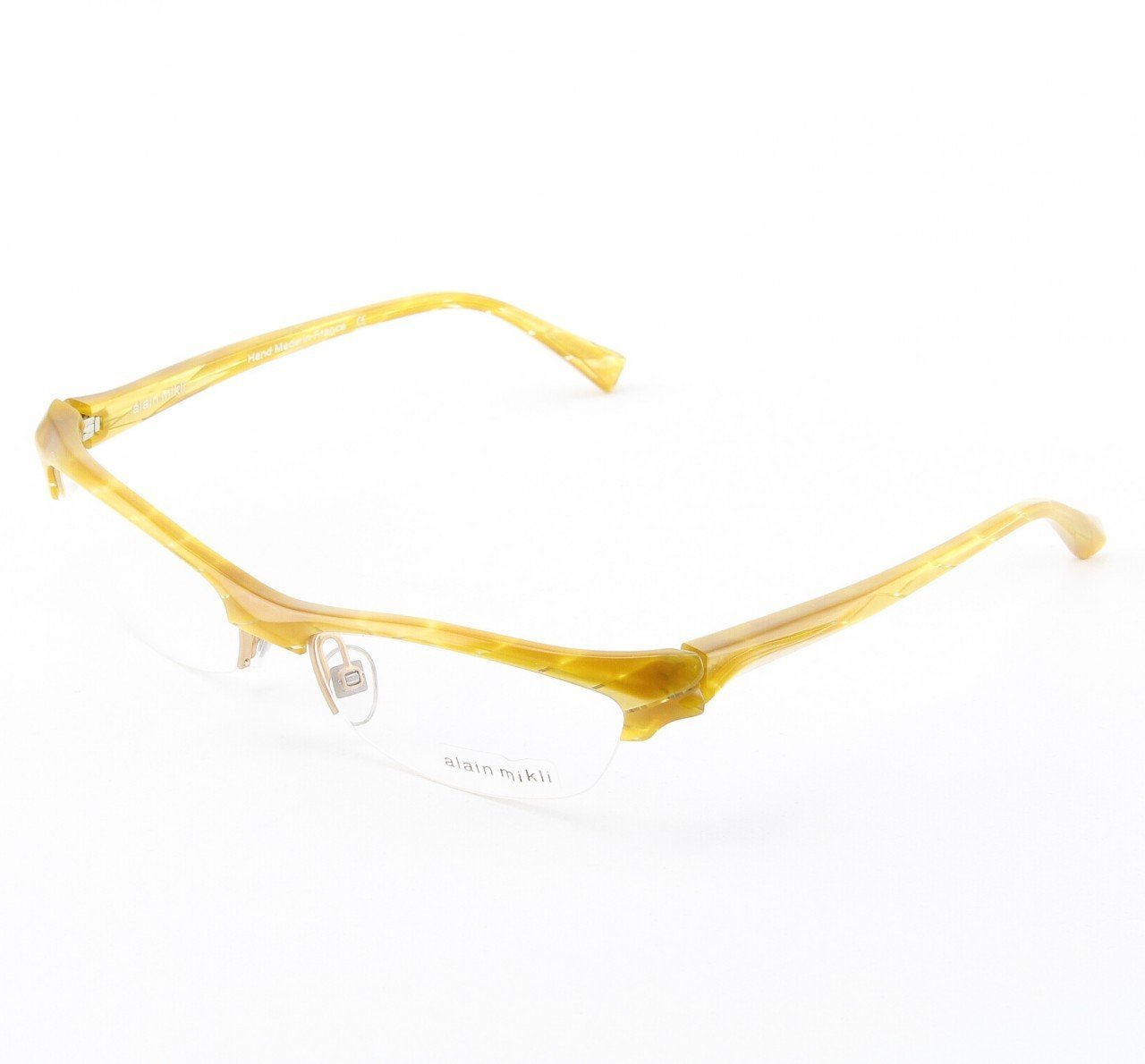 Alain Mikli Eyeglasses AL0820 Col. 6 Yellow Gold Diamond