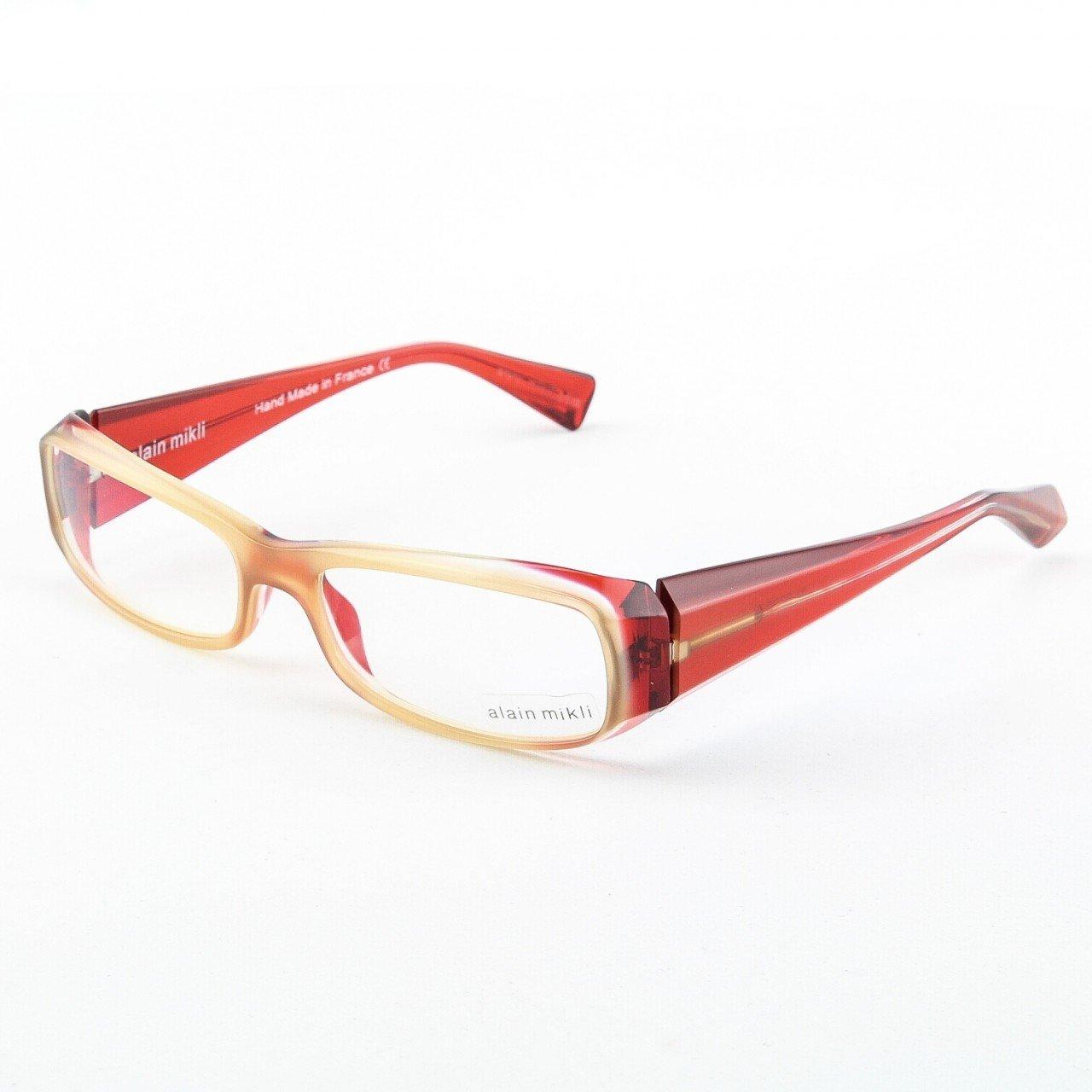 Alain Mikli Eyeglasses AL0322 63 Neutral Translucent Frame Red Translucent Accents