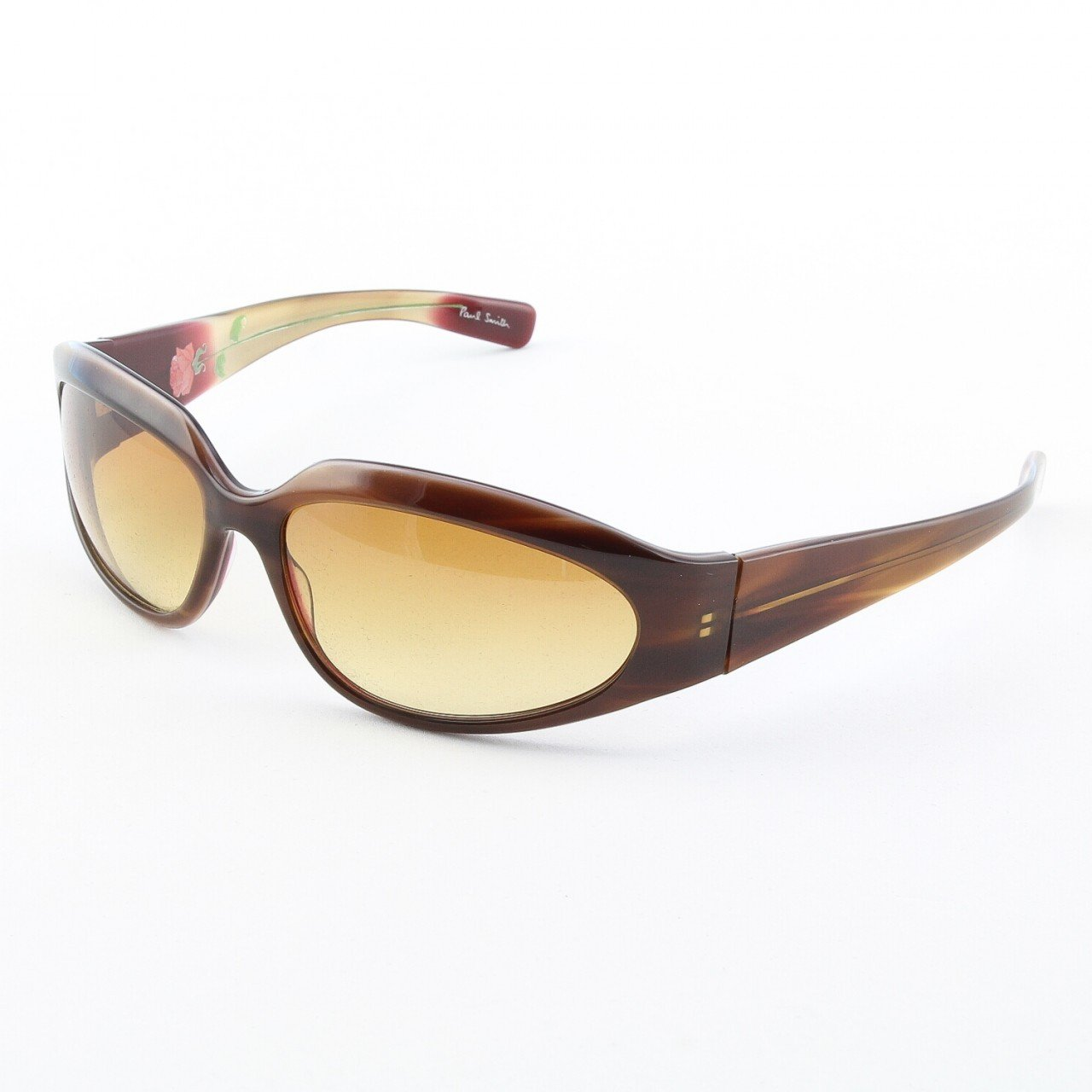 Paul Smith PS-347 SYGA Sunglasses Light Tortoise Brown w/ Brown Gradient Lenses 64mm