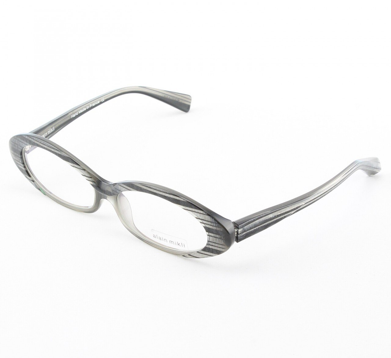 Alain Mikli Eyeglasses AL1037 Col. 232 Black and Silver Iridescent
