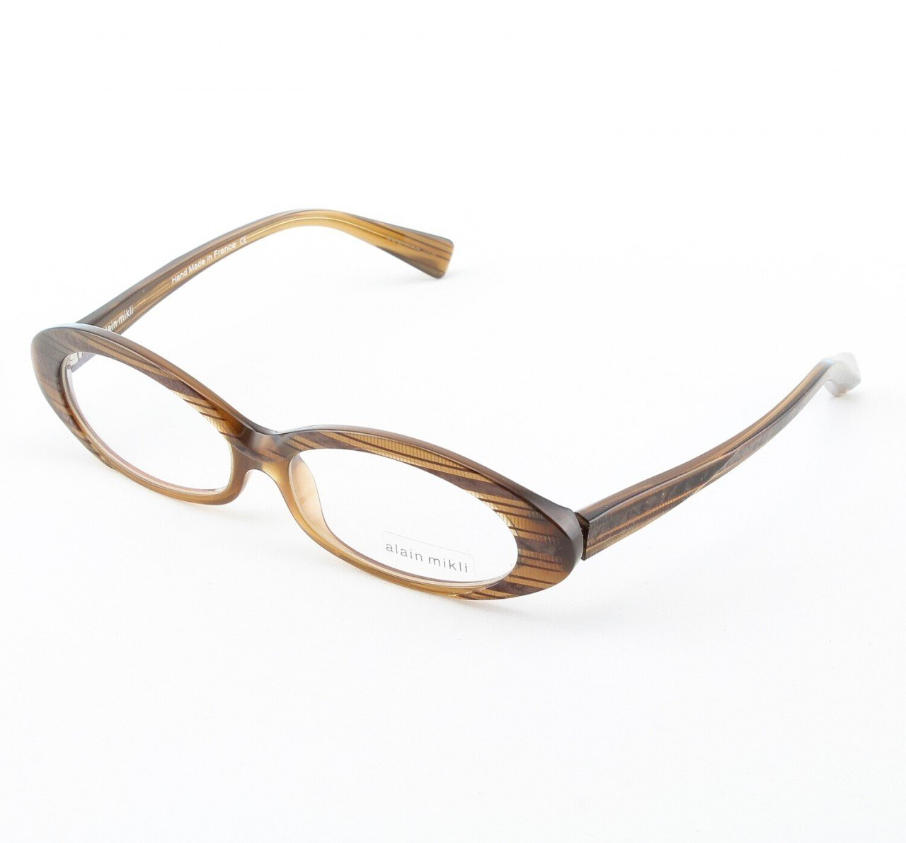 Alain Mikli Eyeglasses AL1037 Col. 230 Iridescent Light Brown