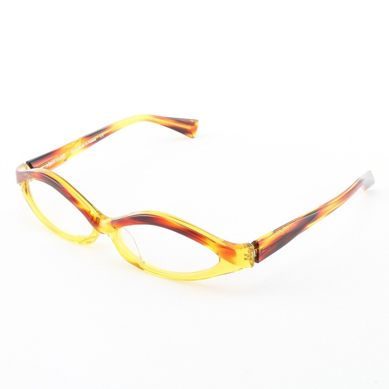 Alain Mikli Eyeglasses AL1018 Col. 1 Mottled Amber and Yellow