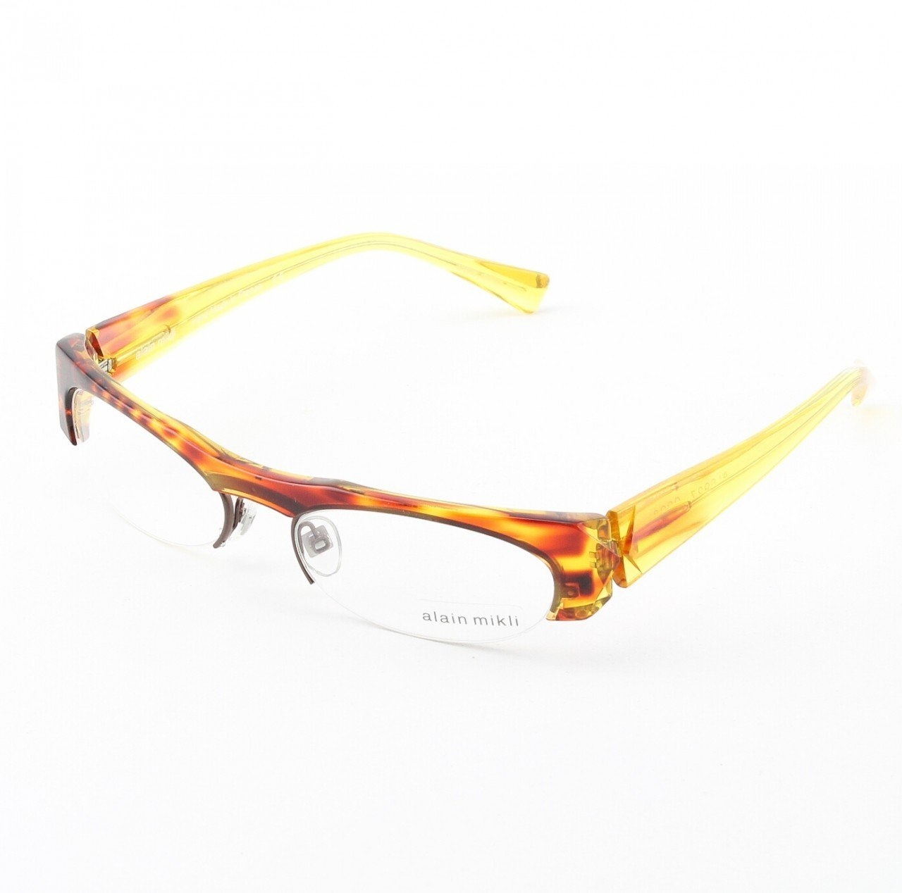 Alain Mikli Eyeglasses AL0927 Col. 3 Copper Red with Clear Yellow Temples