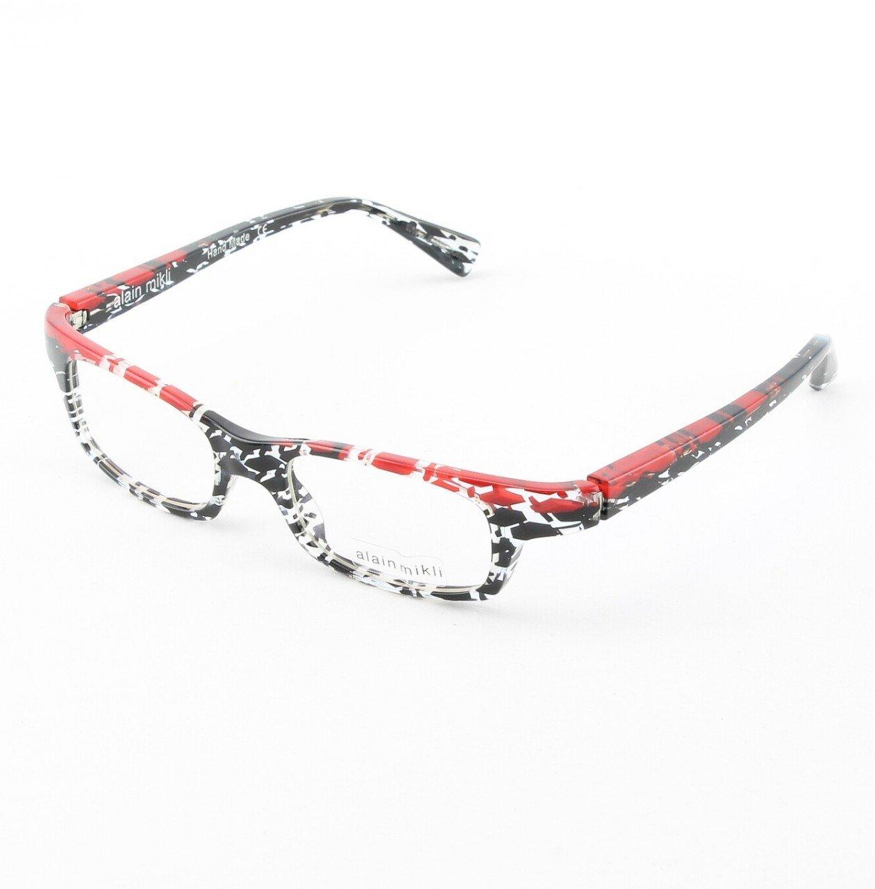 Alain Mikli Eyeglasses AL0690 Col. 75 Clear Black and Red