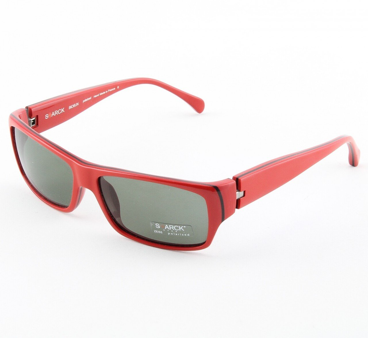 Starck Sunglasses P0518 Col. 28 Red with Black Polarized Lenses