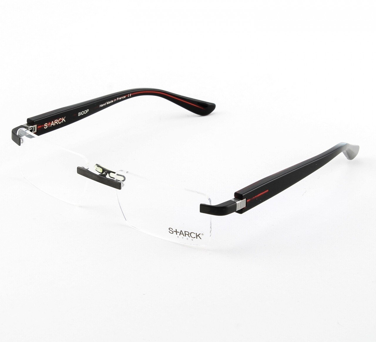 Starck Eyeglasses PL1020 Col. 0006 Burgundy with Clear Lenses