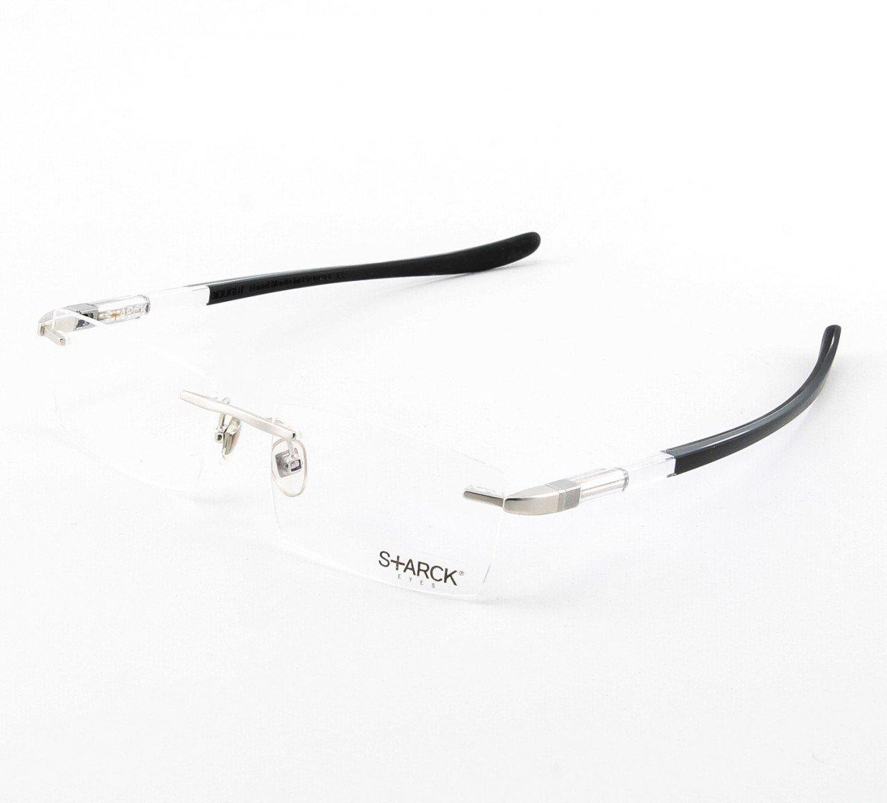 Starck Eyeglasses PL0905 Col. 0204 Translucent Crystal, Black with Clear Lenses