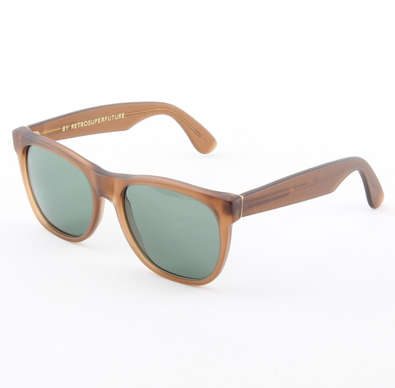 Super Classic 496/2T Sunglasses Brown with Green Zeiss Lenses by RETROSUPERFUTURE