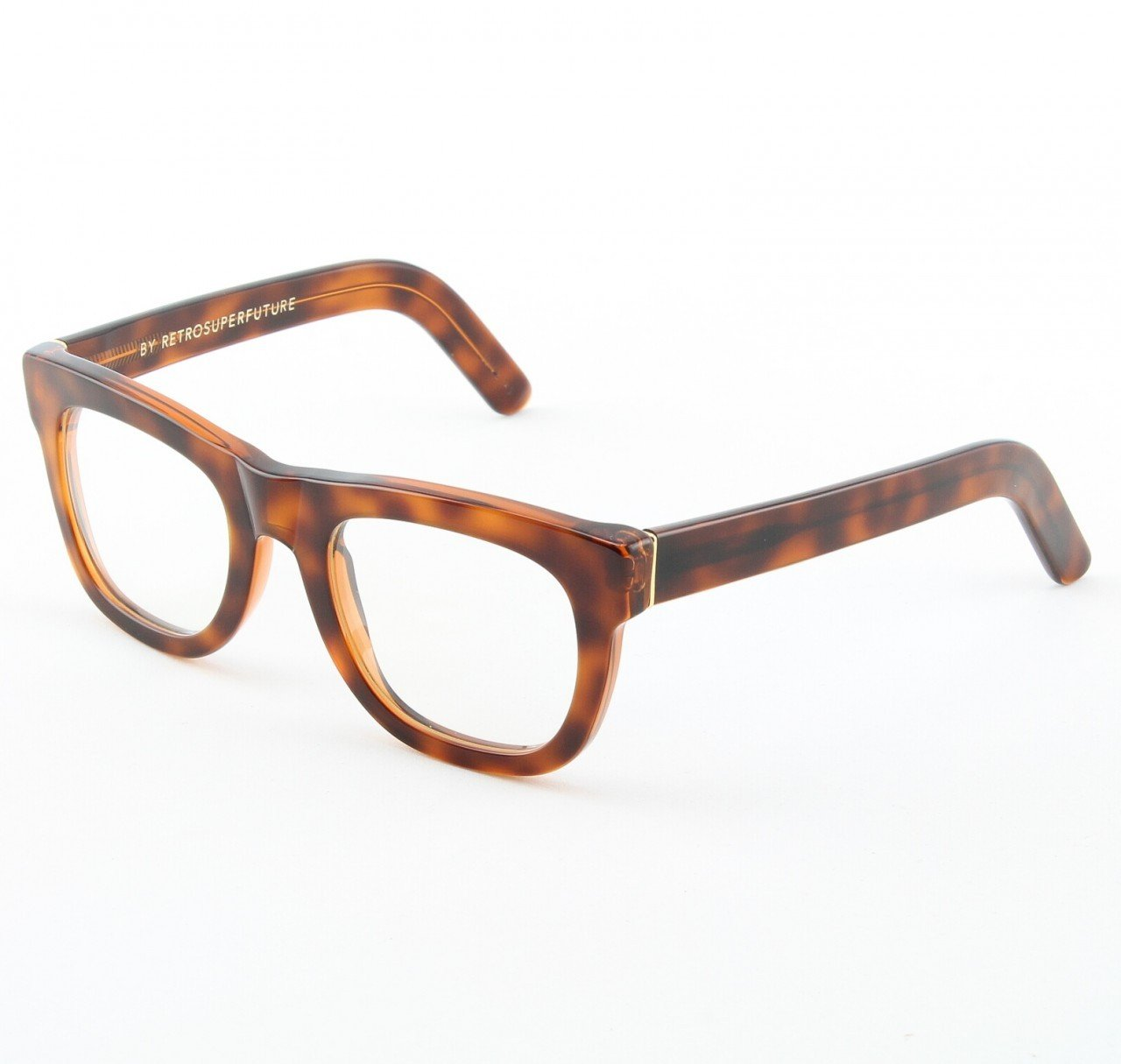 Super Ciccio 105/0A Eyeglasses Classic Havana with Clear Zeiss Lenses by RETROSUPERFUTURE