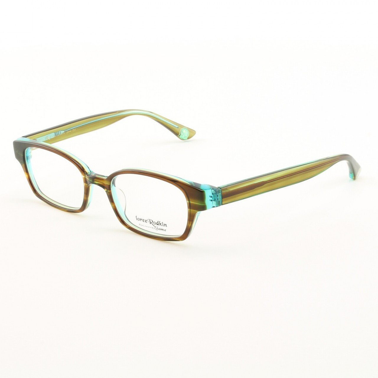 Loree Rodkin Evan Eyeglasses by Sama Col. Olive with Clear Lenses