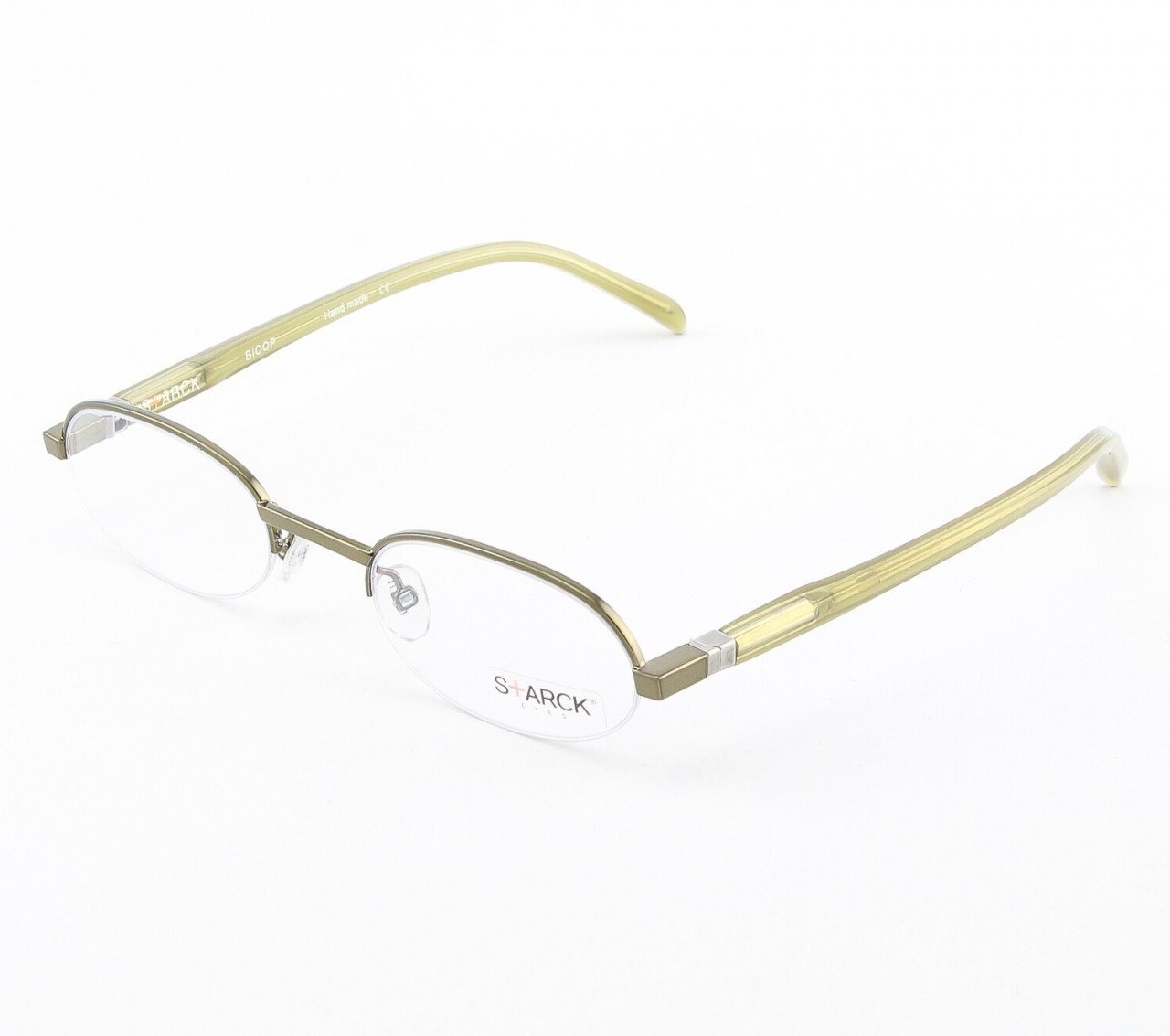 Starck Eyeglasses P0107 Col. 11 Metallic Chartreuse Green with Clear Lenses