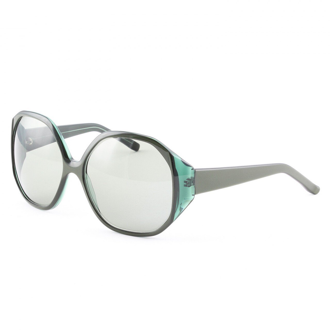 Marni MA218 Sunglasses Col. 01 Translucent and Opaque Green Frame with Gray Lenses