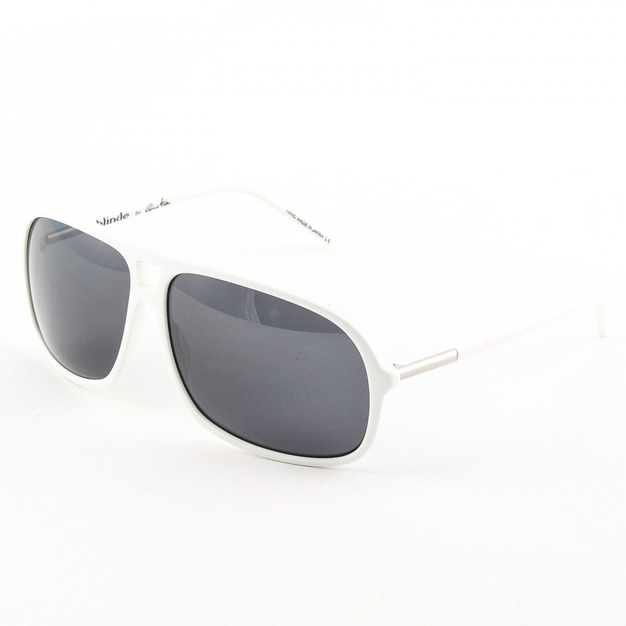 Blinde Lights Out Unisex Sunglasses Col. White Pearl with Solid Grey Lenses