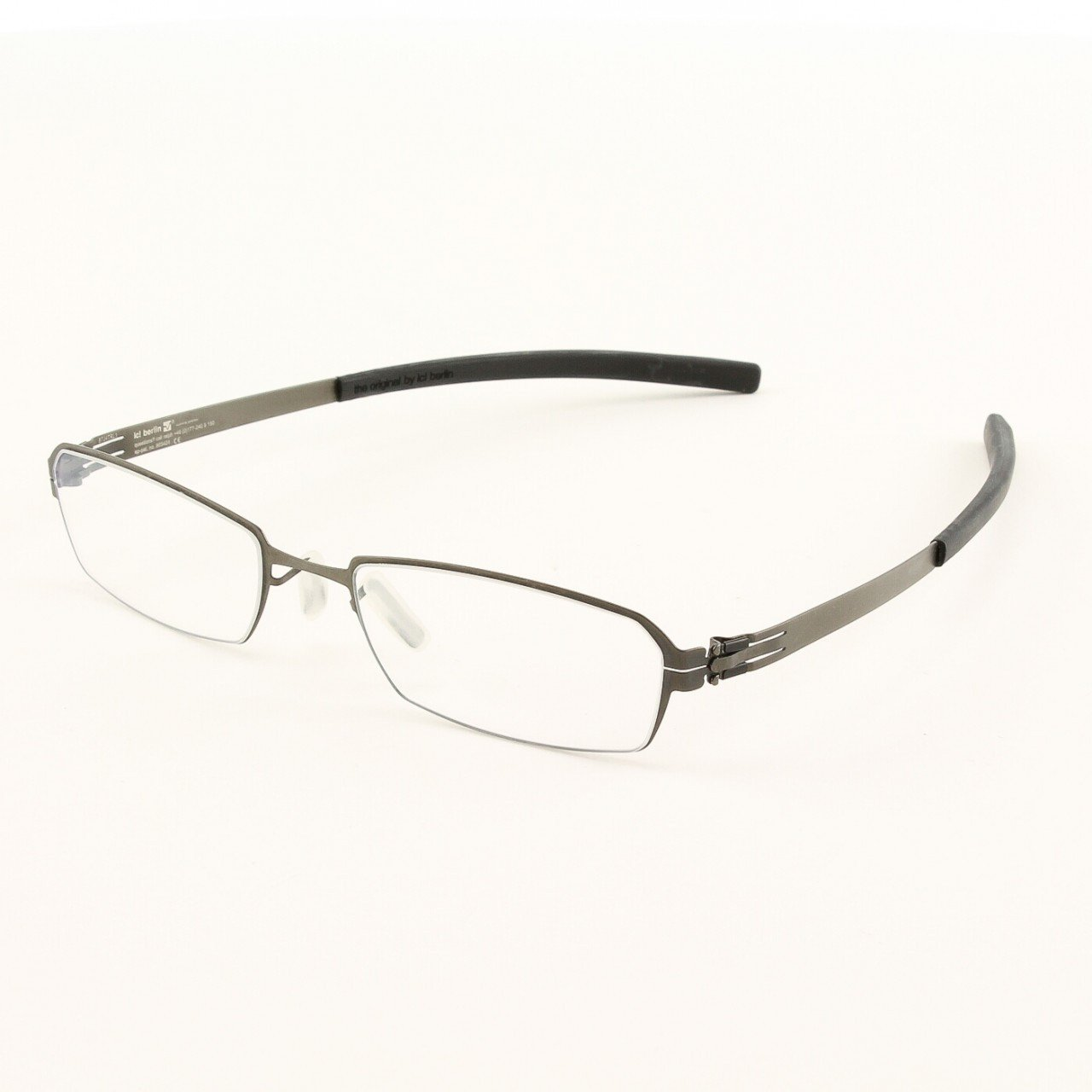 ic! Berlin Solal Eyeglasses Col. Graphite with Clear Lenses