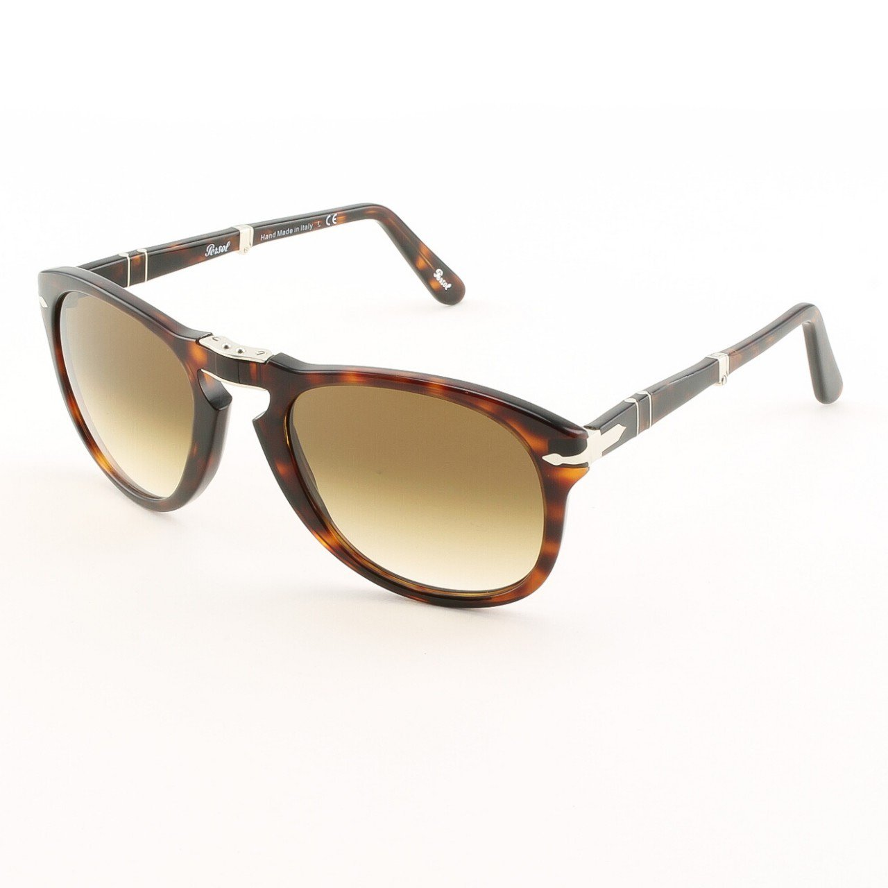 Persol PO0714 24/51 54mm Havana Sunglasses with Brown Faded Lenses