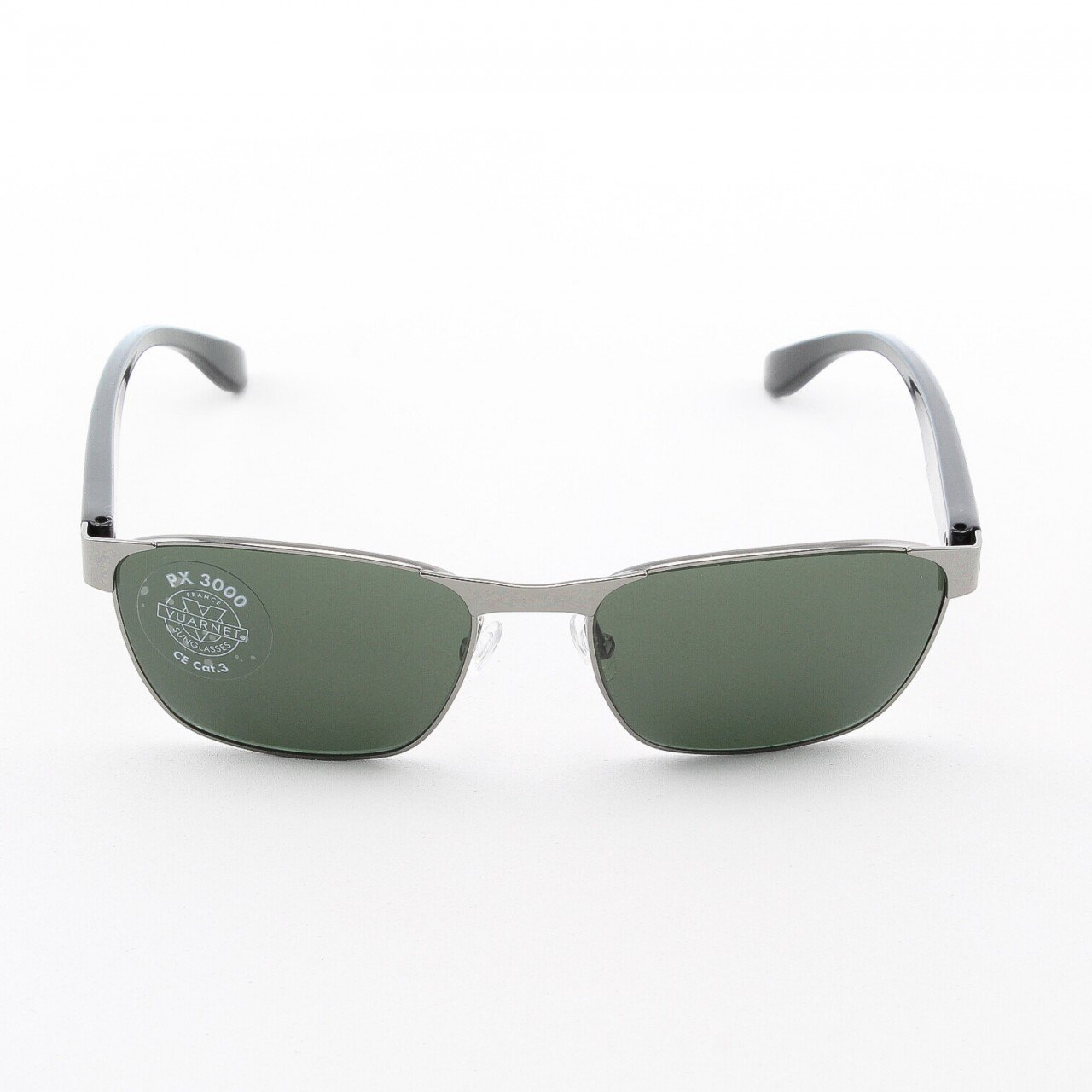 Vuarnet VL 1055 Sunglasses Col. 0002 1121 Silver and Black with Grey PX3000 Lenses