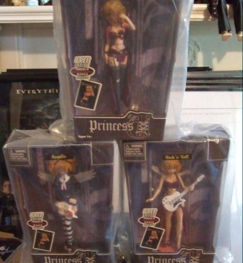 "Princess Ai Rock N Roll 7"" doll by Bleeding Edge Goths."