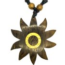 Bali Sun Pendant - Sun Shaped wood pendant Necklace!