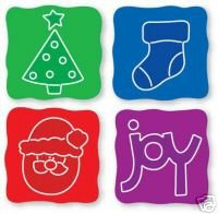 Sizzix Sizzlit Christmas Set, NIP, Set of 4