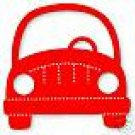 Car Front, Large Red Sizzix