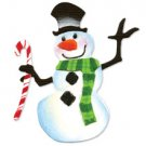 Snowman with Cane, Winter, Christmas, Sizzix Sizzlit