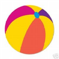 Beach Ball summer lake Ellison Sizzix Thin Cut