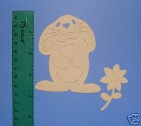 Bunny and flower die cuts  easter  rabbit  Sizzix large red #655029