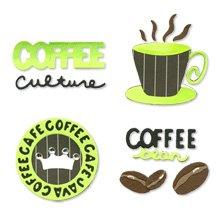 Coffee Time Set die cuts  Sizzix #654786