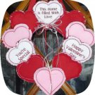 Valentine Rag Wreath 5x7 Machine Embroidery Designs