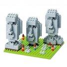 Nanoblock, Kawada Moai Statues on Easter Island, 320 Pieces (Japan Import)